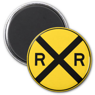 Railroad Ahead RXR Crossbar Warning Road Sign Magnet