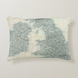 Railroad and Canals of British Isles Accent Pillow