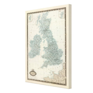 Railroad and Canals of British Isles Canvas Print