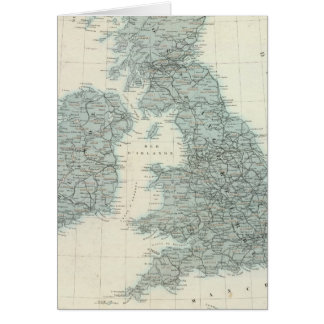 Railroad and Canals of British Isles Card