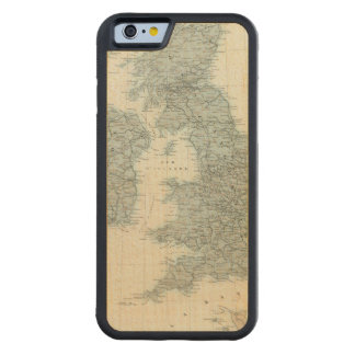 Railroad and Canals of British Isles Carved® Maple iPhone 6 Bumper