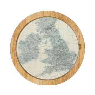 Railroad and Canals of British Isles Cheese Board
