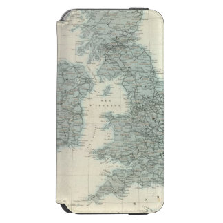 Railroad and Canals of British Isles iPhone 6/6s Wallet Case