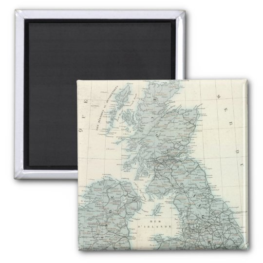 Railroad and Canals of British Isles Magnet