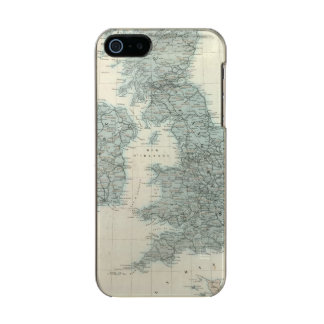 Railroad and Canals of British Isles Metallic iPhone SE/5/5s Case