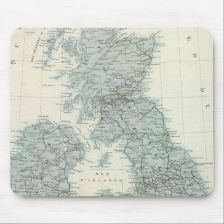 Railroad and Canals of British Isles Mouse Pad