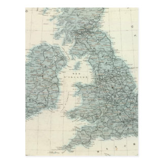 Railroad and Canals of British Isles Postcard