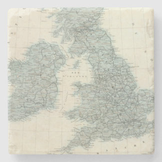 Railroad and Canals of British Isles Stone Coaster