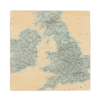 Railroad and Canals of British Isles Wood Coaster