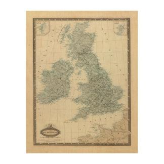 Railroad and Canals of British Isles Wood Wall Art