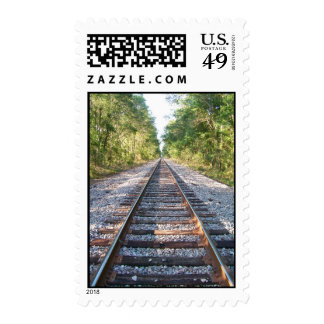 Railroad at Cadillac Postage Stamps