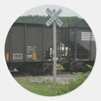Railroad Avenue Classic Round Sticker