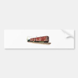 Railroad Boxcars Bumper Sticker
