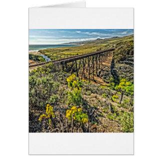 Railroad Bridge at Jalama Beach Card