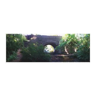 Railroad Bridge at Nixon Park in Hartland, Wi Canvas Print