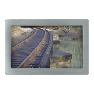 Railroad Bridge Rectangular Belt Buckles