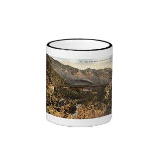 Railroad Bridge Colorado Repro Vintage 1911 Ringer Coffee Mug