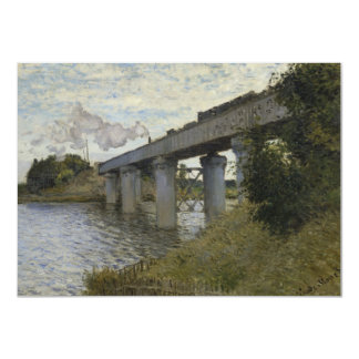Railroad Bridge in Argenteuil by Claude Monet Card