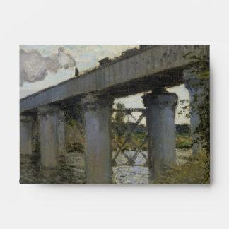 Railroad Bridge in Argenteuil by Claude Monet Envelopes
