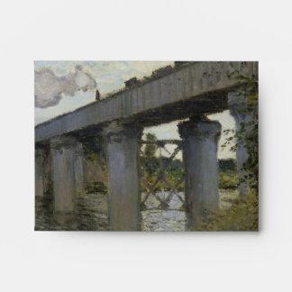 Railroad Bridge in Argenteuil by Claude Monet Envelope