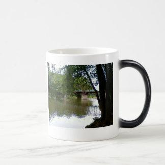 Railroad Bridge, Relics of the Golden Age 11 Oz Magic Heat Color-Changing Coffee Mug