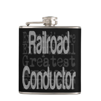 Railroad Conductor Extraordinaire Hip Flask