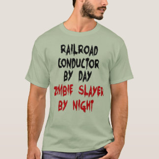 Railroad Conductor Zombie Slayer T-Shirt