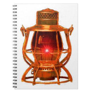 Railroad Copper Lantern Notebook