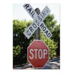 """Railroad Crossing 5"""" X 7"""" Invitation Card"""