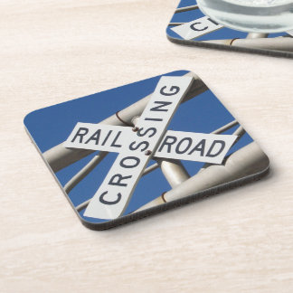 Railroad Crossing Beverage Coaster
