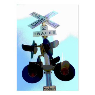 Railroad Crossing Large Business Cards (Pack Of 100)