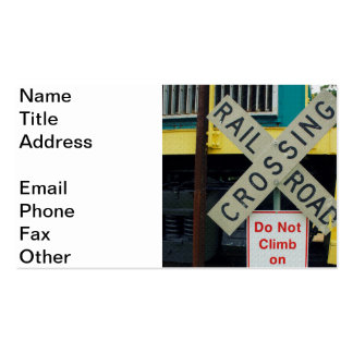 Railroad Crossing Double-Sided Standard Business Cards (Pack Of 100)
