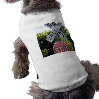 Railroad Crossing Doggie Tshirt