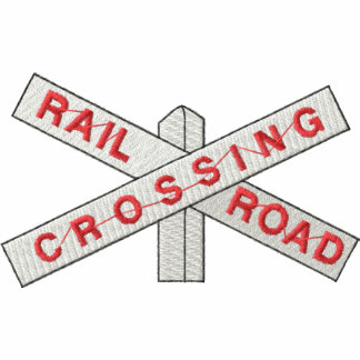 Railroad Crossing Embroidered Polo Shirt