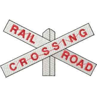 Railroad Crossing embroideredshirt