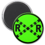 Railroad Crossing Highway Road Sign Refrigerator Magnets