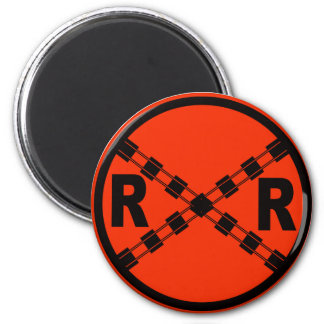 Railroad Crossing Highway Road Sign Magnet