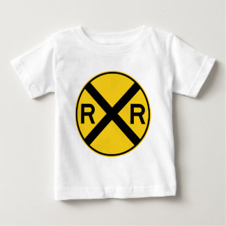 Railroad Crossing Highway Sign Baby T-Shirt