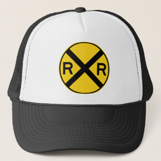 Railroad Crossing Highway Sign Trucker Hat
