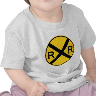 Railroad Crossing Highway Sign Tshirts