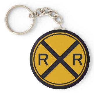 Railroad Crossing Keychain