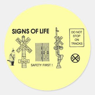 Railroad Crossing Lifesaving Classic Round Sticker