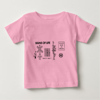 Railroad Crossing Lifesaving Signs Baby T-Shirt