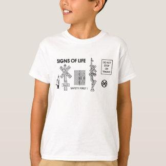 Railroad Crossing Lifesaving Signs Kids T-Shirt