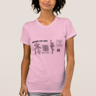 Railroad Crossing Lifesaving Signs Ladies T Shirt