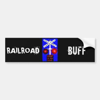Railroad Crossing Lights Bumper Sticker