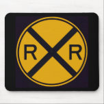 "Railroad Crossing Mouse Pad<br><div class=""desc"">Railroad crossing sign.</div>"