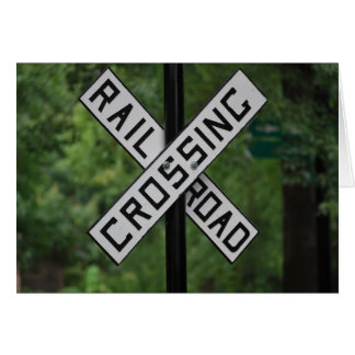 Railroad Crossing Notecard