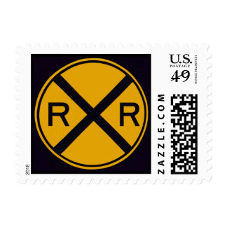 Railroad Crossing Postage Stamp