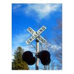 Railroad Crossing Postcard